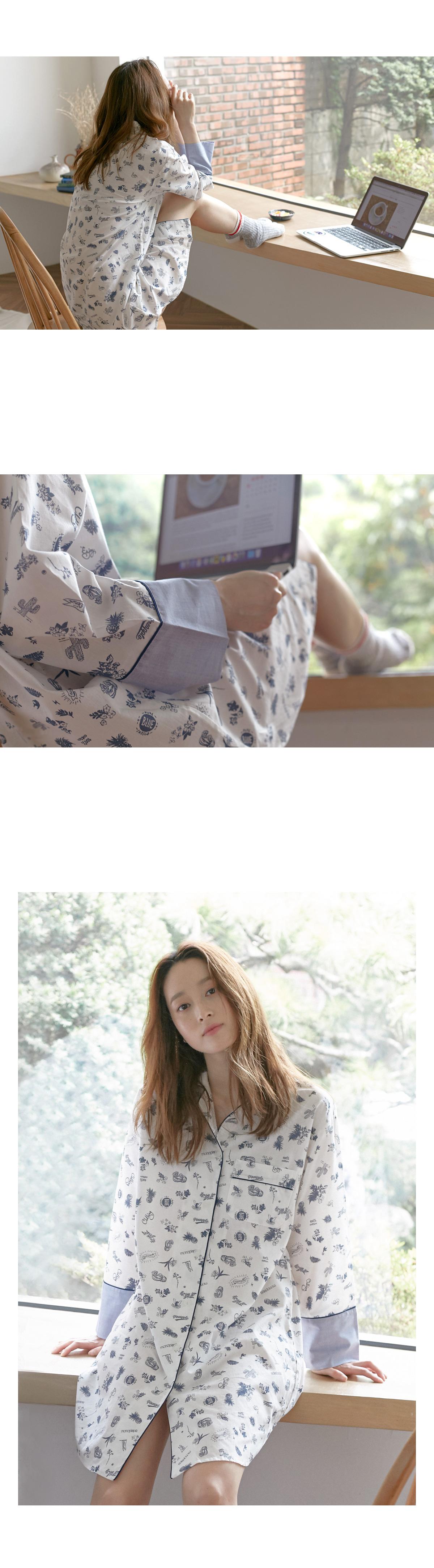 조이 순면 셔츠  원피스잠옷 - 바이메이비, 56,700원, 잠옷, 원피스잠옷