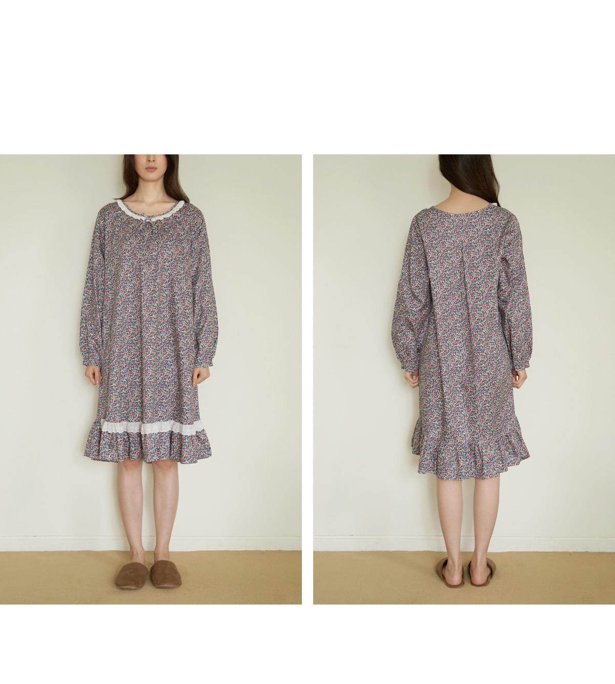쁘띠가든 순면 원피스잠옷 - 바이메이비, 56,000원, 잠옷, 여성파자마