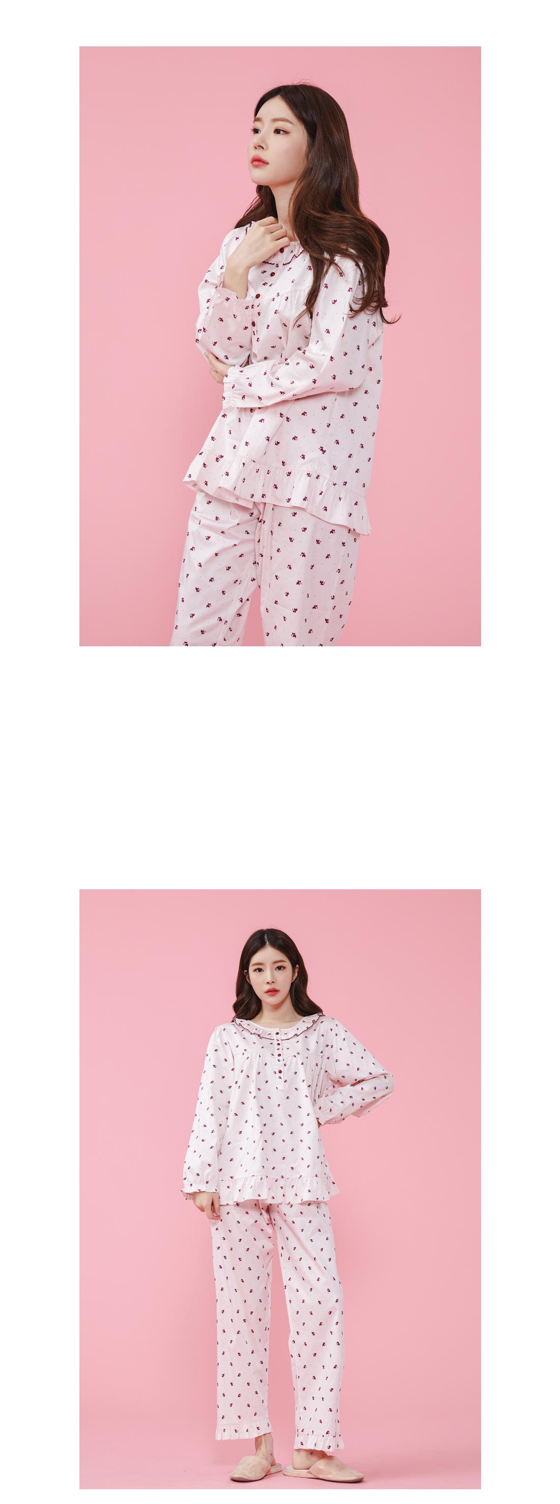 여우 면 스판 여자잠옷 파자마세트 - 바이메이비, 48,000원, 잠옷, 여성파자마