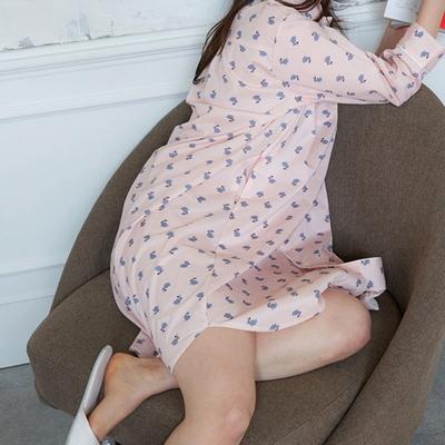 파인 여성이지웨어 홈웨어 원피스잠옷