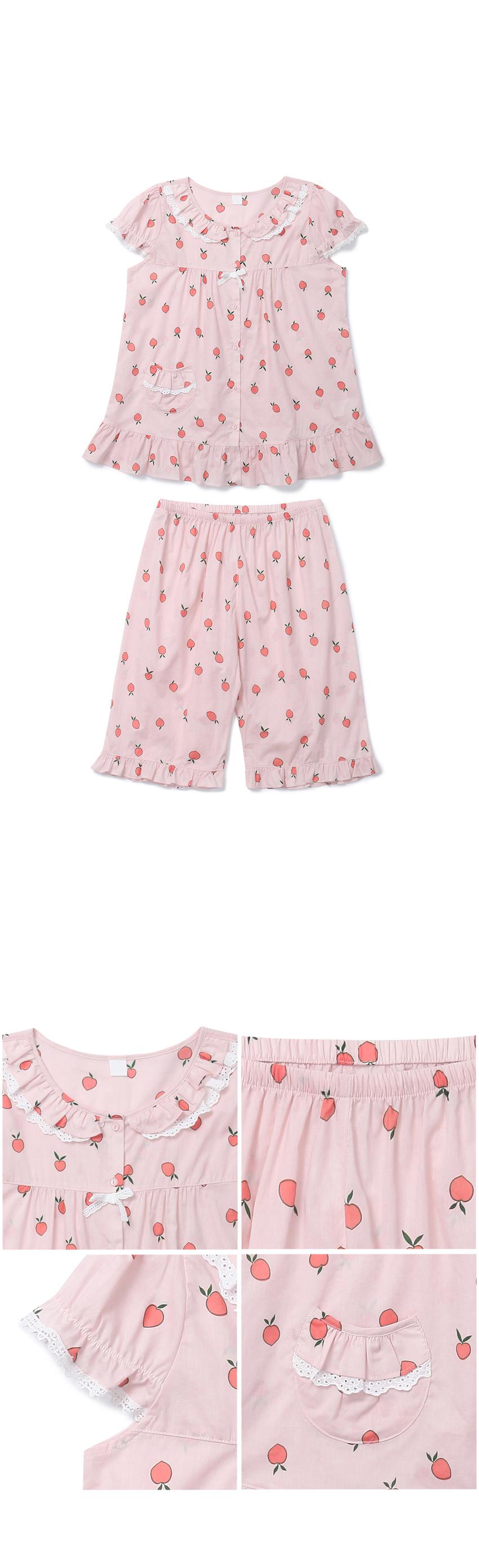 피치 아사면 여자 여름잠옷 파자마 홈웨어 - 바이메이비, 55,800원, 잠옷, 여성파자마