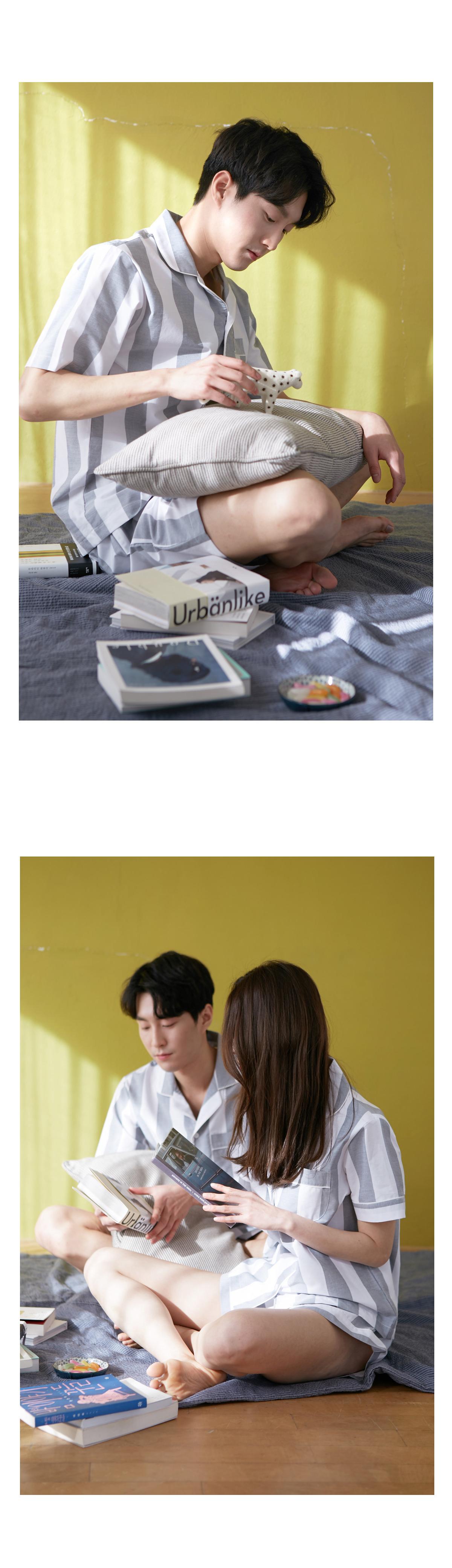 로코 면 커플여름잠옷 - 바이메이비, 52,000원, 잠옷, 커플파자마