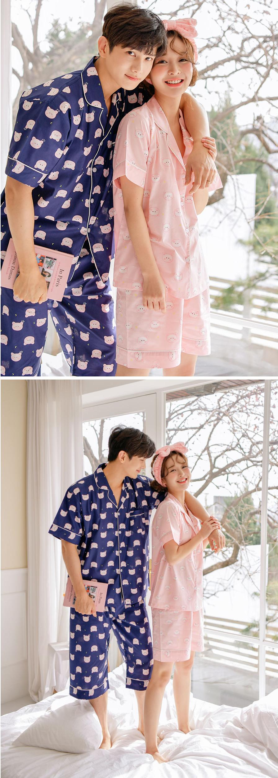 피그 순면 커플여름잠옷 - 바이메이비, 124,800원, 잠옷, 커플파자마