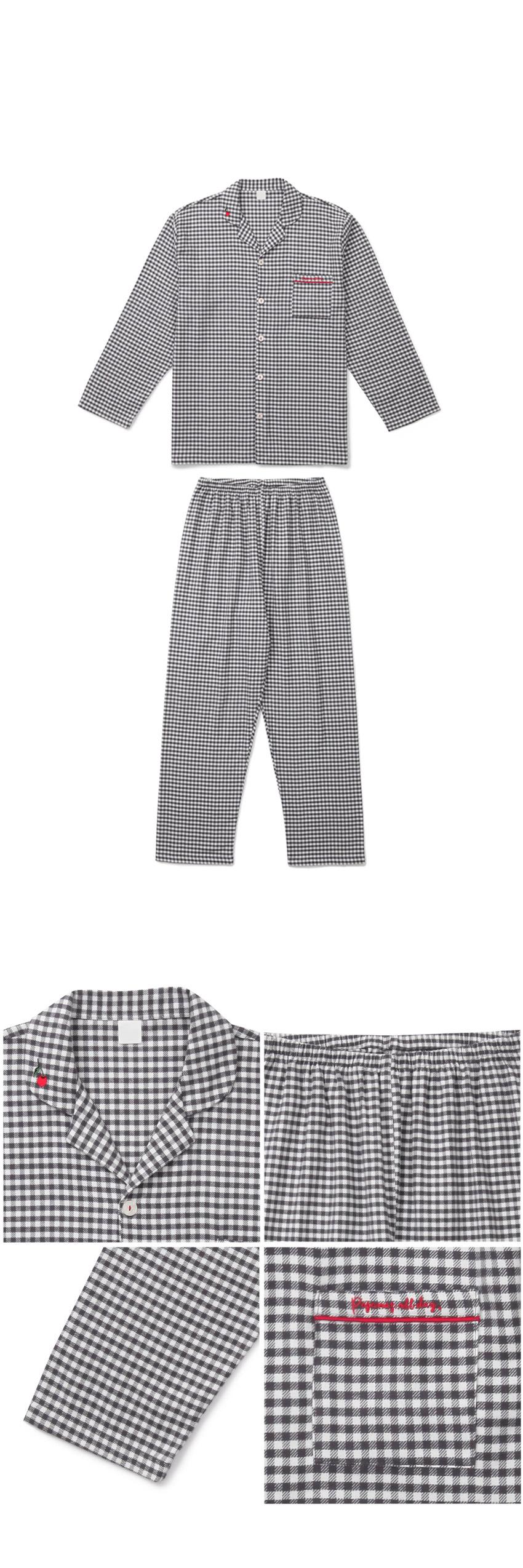 코지체크 기모면 커플겨울잠옷 - 바이메이비, 135,000원, 잠옷, 커플파자마