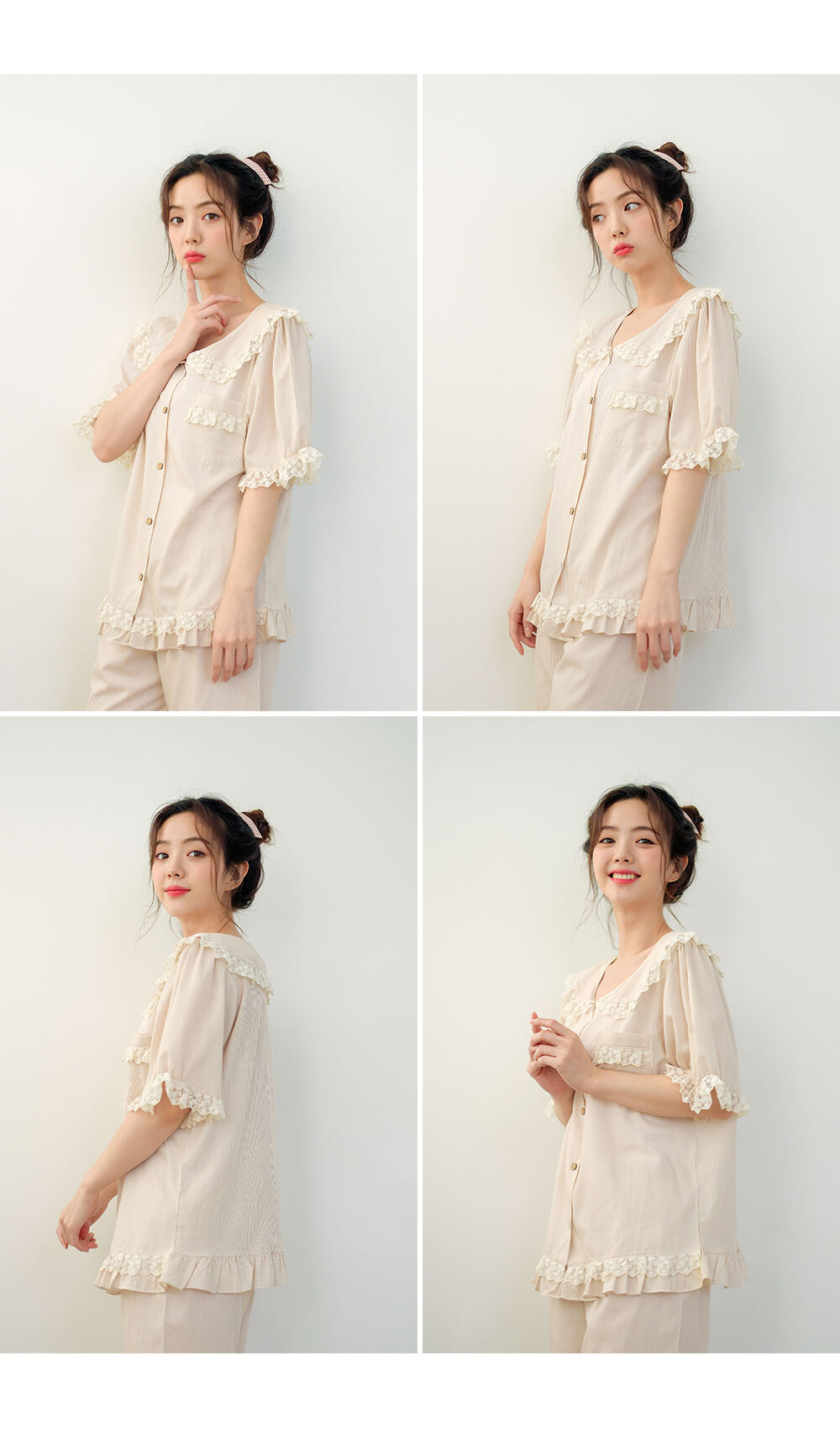 바케트 면 여자 여름잠옷 파자마 - 바이메이비, 73,800원, 잠옷, 여성파자마