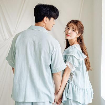 로맨틱 면 레이온 여름파자마 신혼부부커플잠옷
