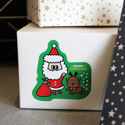 크리스마스 포장스티커 (10매)