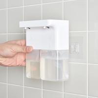 듀얼 화이트 욕실 주방 디스펜서 거품 물비누 자동세제 사각 대용량 핸드워시 손세정 센서형 리필용기