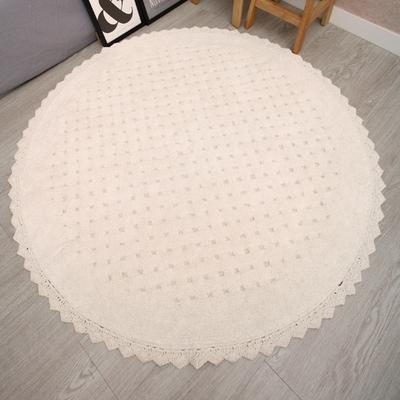 순면 엠보러그 그레이 원형 러그 카페트 150x150cm