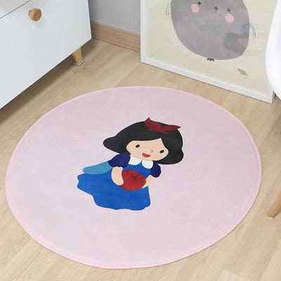 극세사 빨간모자소녀 아이보리 원형 러그 카페트 150x150cm