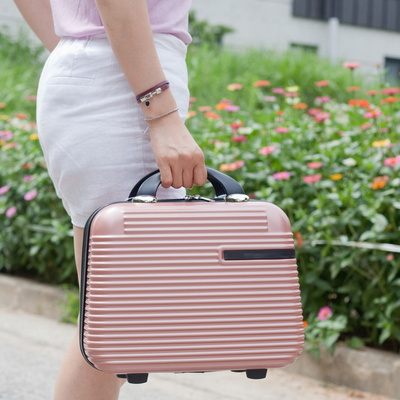작은사이즈로 기내반입가능한 소형캐리어 화장품가방