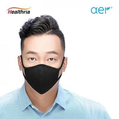 아에르 오가닉 검정 패션 마스크 (aer-black)