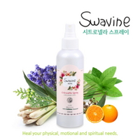Swavine 아로마 시트로넬라 스프레이 200ml 대용량 - 천연 모기기피제