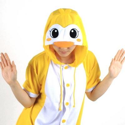 반팔 동물잠옷 펭귄 (옐로우)