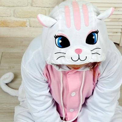 사계절 동물잠옷 고양이 (화이트)