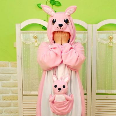 사계절 동물잠옷 캥거루 (핑크)