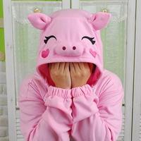 사계절 동물잠옷 돼지 (핑크) / 복돼지