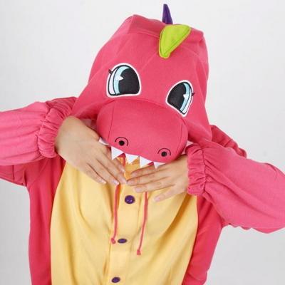 사계절 동물잠옷 공룡 (컬러풀 핑크)