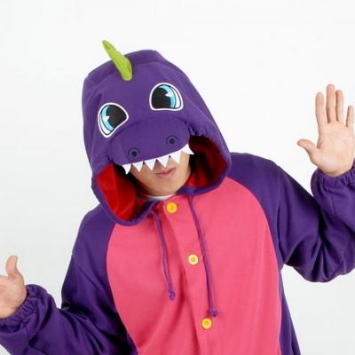 사계절 동물잠옷 공룡 (컬러풀 퍼플)