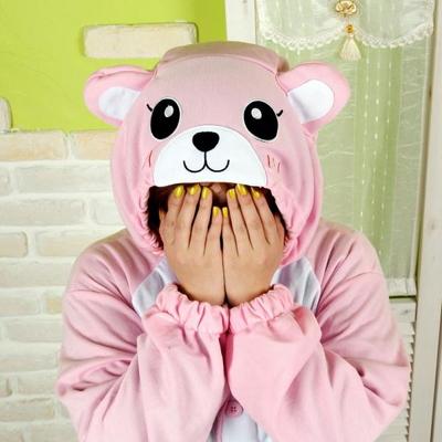 사계절 동물잠옷 곰 (핑크)