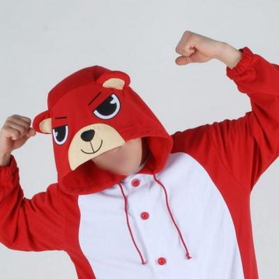 사계절 동물잠옷 곰 (레드) / 불곰