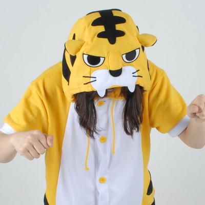 반팔 동물잠옷 호랑이 (옐로우)