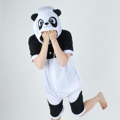 반팔 동물잠옷 팬더 (블랙)