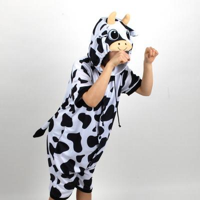반팔 동물잠옷 젖소 (블랙)