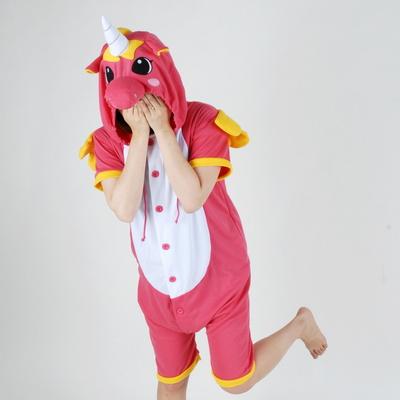 반팔 동물잠옷 유니콘 (핫핑크)