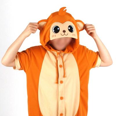 반팔 동물잠옷 원숭이 (브라운)