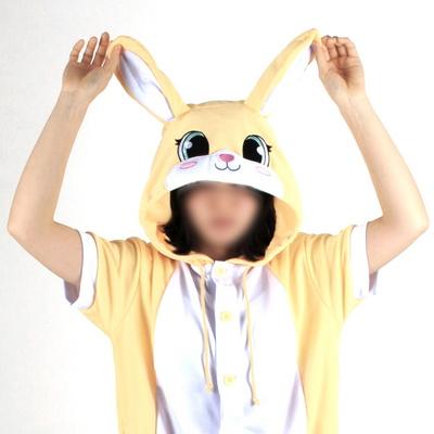반팔 동물잠옷 토끼 (옐로우)