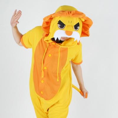 반팔 동물잠옷 사자 (옐로우)