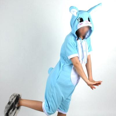반팔 동물잠옷 토끼 (블루)