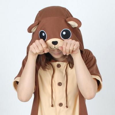 반팔 동물잠옷 곰 (브라운)