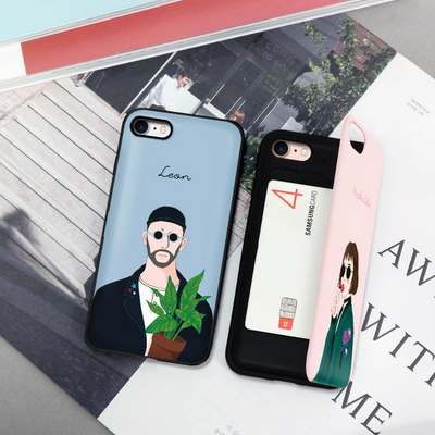 (LG V20 V30)레옹과마틸다_미러카드범퍼 케이스_2TYPE