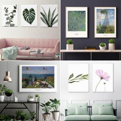 인테리어 식물 그림 액자 캔버스 10호