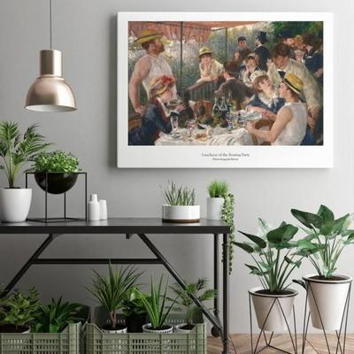 르누아르 인테리어 그림 액자 포스터 뱃놀이 오찬