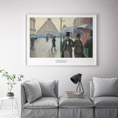 카유보트 인테리어 그림 액자 포스터 파리의 비오는날