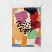 패브릭 포스터 태피스트리 가리개 커튼 벗 퍼스트 커피 대형
