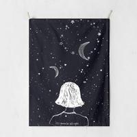 패브릭 포스터 태피스트리 가리개 커튼 잇츠거너비올라이트 대형