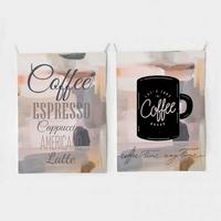 패브릭 포스터 태피스트리 가리개 커튼 2장 세트 커피메뉴-커피타임 대형