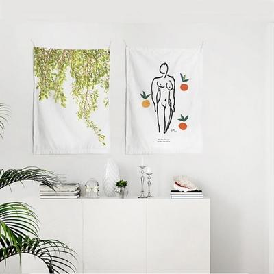 패브릭 포스터 태피스트리 가리개 커튼 2장 세트 옐로우썸머-뉴오스 대형