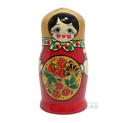 러시아인형 마트로시카 호흘로마 전통 6구 골드