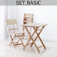 원목 접이식 카페테이블 set-basic