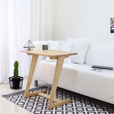 원목 라운디시 소파 사이드 테이블 600