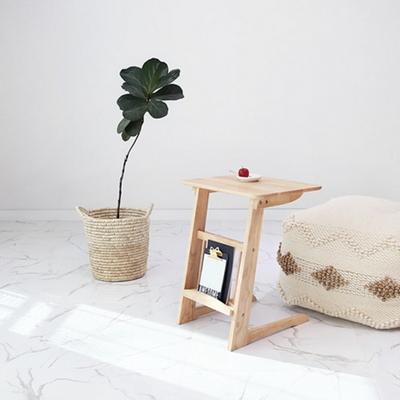 원목 라운디시 소파 사이드 테이블 550
