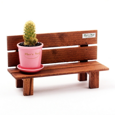 한스의정원 원목 미니벤치-트리플 초미니 화분다이
