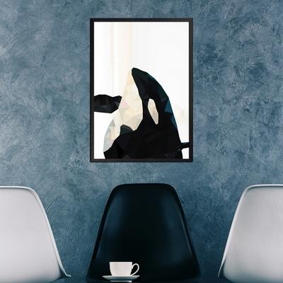 폴리곤 범고래 - A2 A3 A4 메탈액자