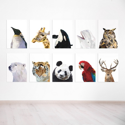폴리곤 동물 시리즈 10종 _ A4 A3 A2 포스터