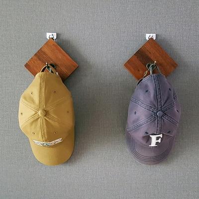 빈티지 멀바우 원목 마름모 벽걸이 벽옷걸이 행거 훅 후크 다용도걸이 모자걸이 1p